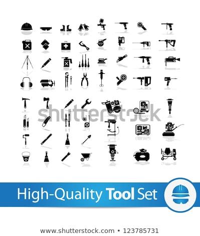 vector metal frame with hand tools stock photo © dashadima