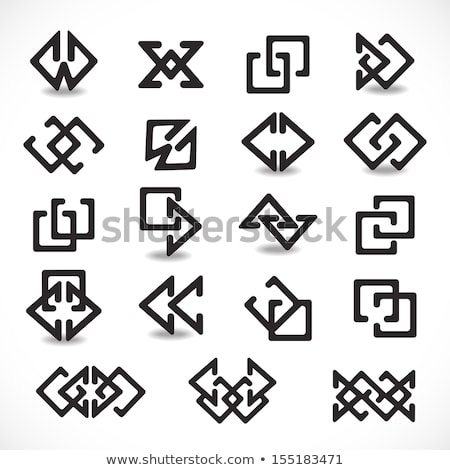 Abstract Symbol of Arrow Shaped A and V Line Icons Stock photo © cidepix