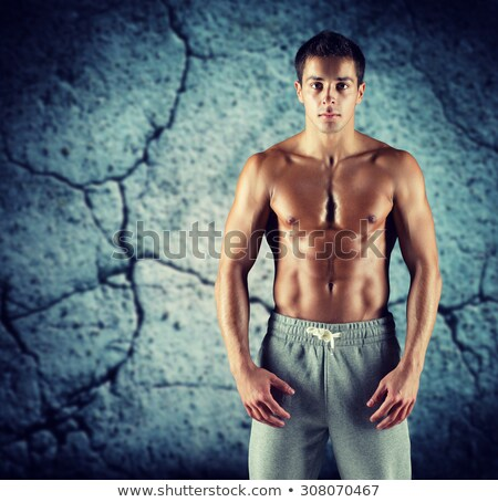 Bare Chested Young Man Stock photo © monkey_business