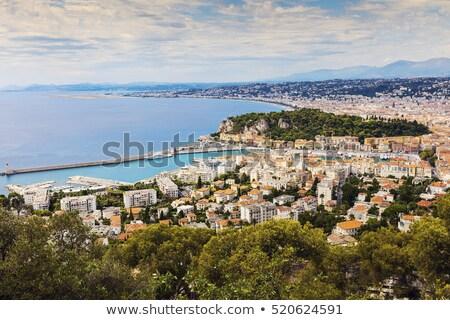 szép · Franciaország · mediterrán · tengerpart · tenger · víz - stock fotó © benkrut