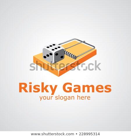 Hazárdjáték csapda piros kocka fehér Stock fotó © devon