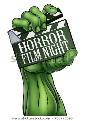 Horror Film Night Zombie Monster Clapper Board Stock photo © Krisdog