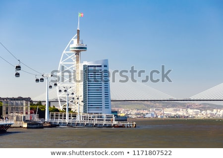 Tower Vasco Da Gama By Tagus River In Lisbon Foto stock © FrimuFilms
