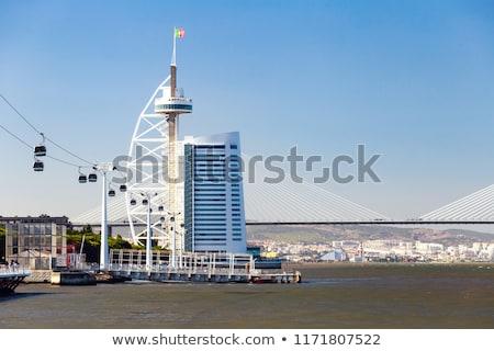 ガンマ · 橋 · リスボン · 市 · 水 · 建物 - ストックフォト © benkrut