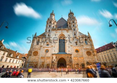 Santo cattedrale piazza Vienna Austria cielo Foto d'archivio © benkrut