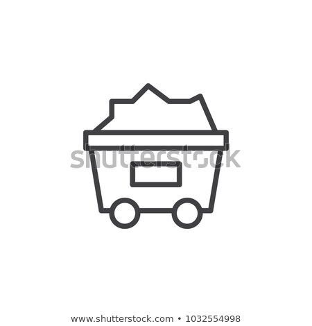 coal trolley line icon stock photo © rastudio
