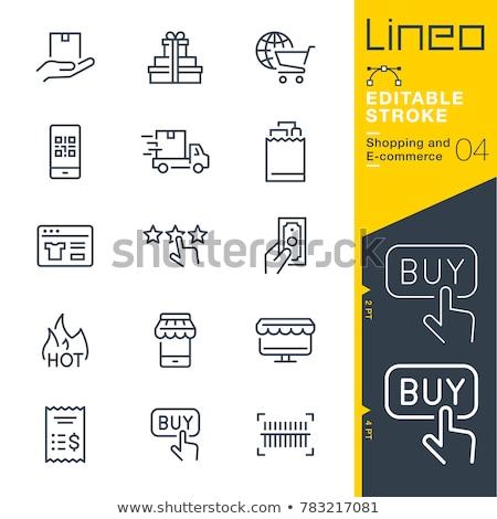 kényelmesség · bolt · vonal · ikon · vektor · izolált - stock fotó © rastudio