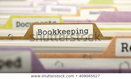 Folder Register with Bookkeeping. 3D. Stock photo © tashatuvango