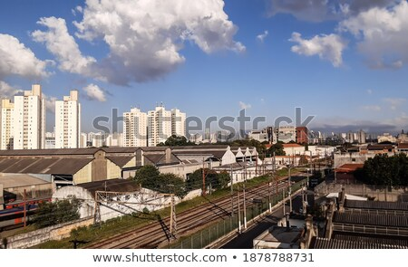 Beautiful daylight view to modern big city buildings skylines an Stock photo © frimufilms