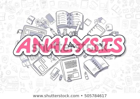 Negocios estadística garabato magenta texto palabra Foto stock © tashatuvango