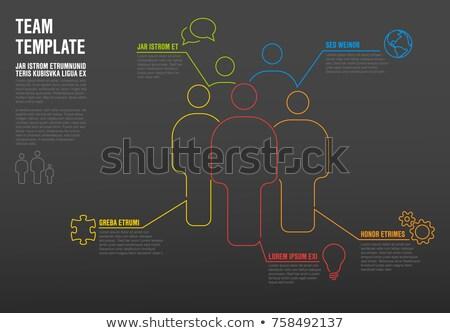 Equipe modelo companhia hierarquia esquema Foto stock © orson