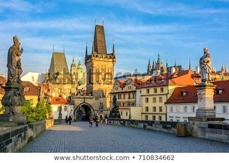 Manhã Praga foto igreja céu cidade Foto stock © Artlover