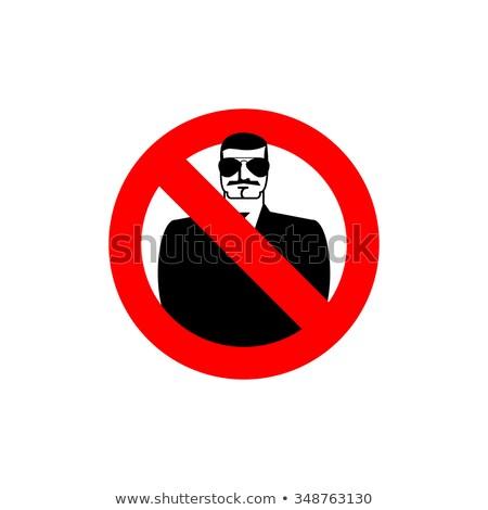 Stop kém tilos titkosügynök fagyott férfi Stock fotó © popaukropa