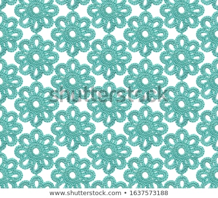 Cyan knitted cotton mesh Stock photo © homydesign
