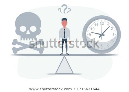 Prazo de entrega crânio relógio não suficiente tempo Foto stock © popaukropa