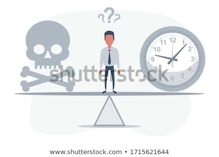 deadline skull with a clock not enough time vector illustrati stock photo © popaukropa