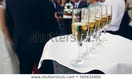 wzrosła · szampana · odizolowany · biały · żywności · okulary - zdjęcia stock © denismart