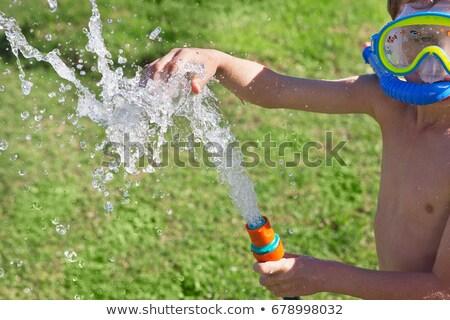 少年 シュノーケル 演奏 ホット 運動 屋外 ストックフォト © IS2