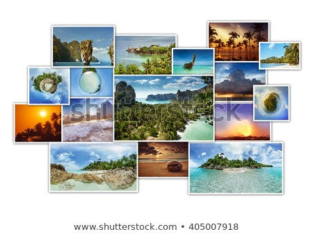 Collection of nature photos in collage concept Stock photo © Elnur