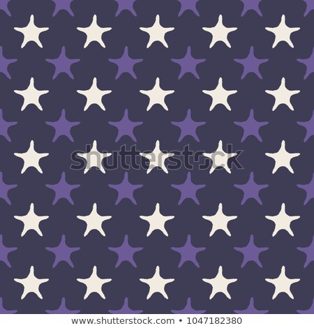 Ultra violet starfish seamless pattern. Vector illustration Stock photo © gladiolus