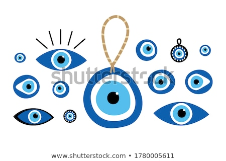 Blue evil eyes on black background Stock photo © sidmay
