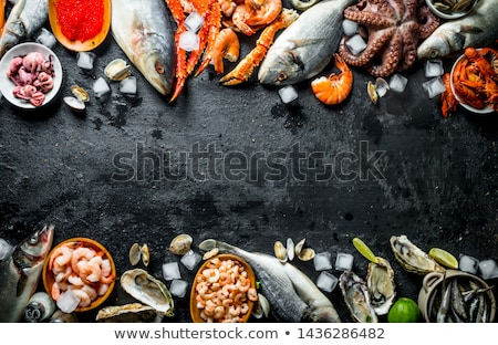 assorted fish and seafood Stock photo © M-studio