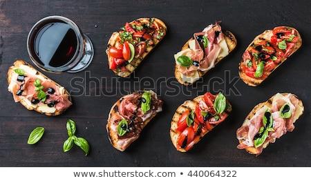 felszolgált · tányér · saláta · sajt · paradicsomok - stock fotó © m-studio