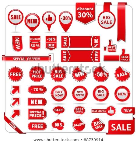 Grande venta vector icono botón diseno Foto stock © rizwanali3d