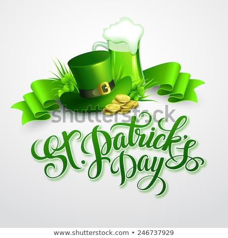 Szent nap terv zöld lóhere levél Stock fotó © articular