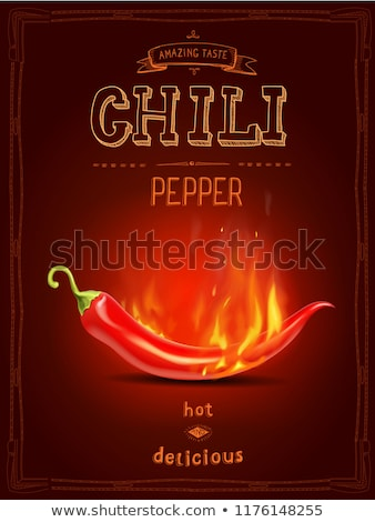 горячей пряный чили огня иллюстрация продовольствие Сток-фото © bluering