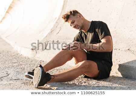 портрет раненый спортсмен страдание локоть более Сток-фото © deandrobot