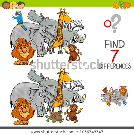 Task  find 7 differences elephant Stock photo © Olena