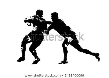 Rugby jogador branco foto Foto stock © RTimages