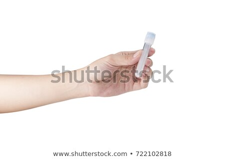 hand holding sample tube stock photo © bdspn