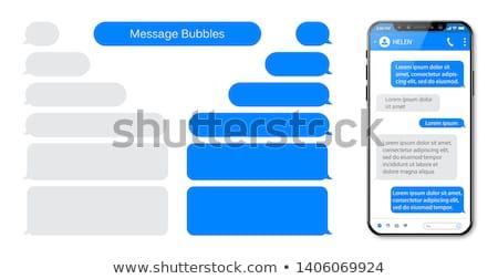 Chat nuages vecteur 3D internet boîte Photo stock © milsiart