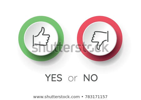 like and dislike battle illustration Stock photo © romvo