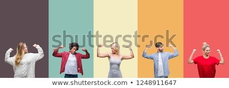 woman muscular strong worker stock photo © studiostoks