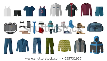 Set of flat teen's clothes and accessories stock photo © dejanj01