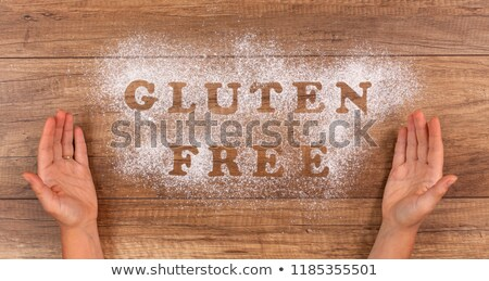 hand presenting the gluten free alternative stock photo © lightkeeper