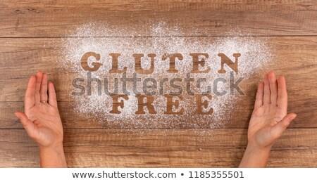 Hand presenteren glutenvrij alternatief dieet keuzes Stockfoto © lightkeeper