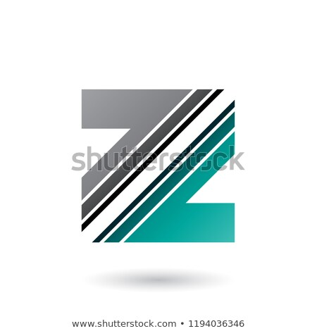 grey and green letter z with diagonal stripes vector illustratio stock photo © cidepix