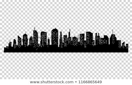 Нью-Йорк · Skyline · черно · белые · иллюстрация · статуя · свободы - Сток-фото © designer_things