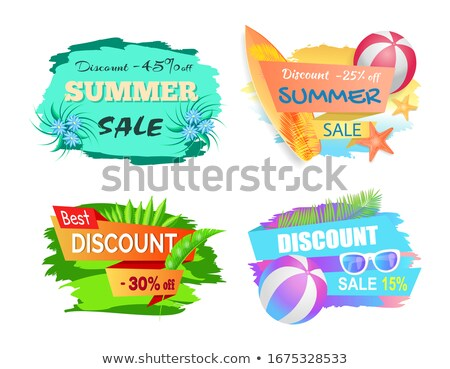 Nyár vásár árengedmény címke 25 el Stock fotó © robuart