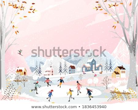 People doing winter acivities on holiday season  Stock photo © cienpies