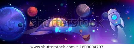 Happy Cartoon Asteroid Stock photo © cthoman