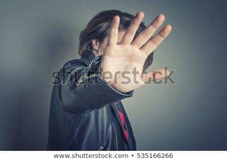 Stock photo: Hand hiding face