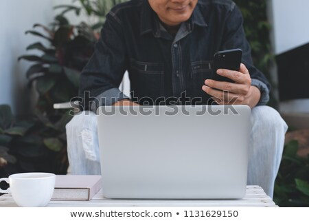 masculino · mãos · laptop · datilografia · negócio - foto stock © deandrobot