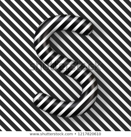 Black and white stripes Letter S 3D Stock photo © djmilic