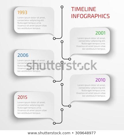 Zaman Çizelgesi rapor şablon kabarcıklar vektör Stok fotoğraf © orson