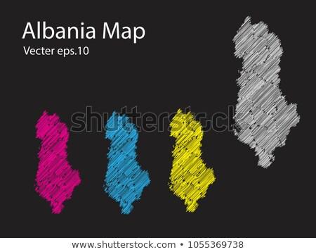 térkép · Albánia · politikai · néhány · absztrakt · világ - stock fotó © blaskorizov